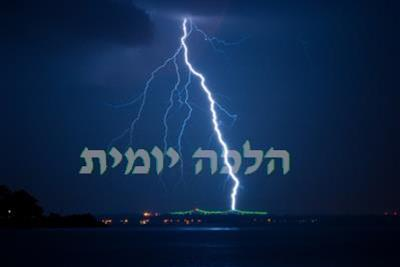 the blessings on thunder and lightning daily halacha based on the